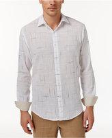 Tasso Elba Men's Long-Sleeve Texture-Print Shirt, Only at Macy's