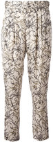 Steffen Schraut floral print cropped trousers - women - Polyester - 36