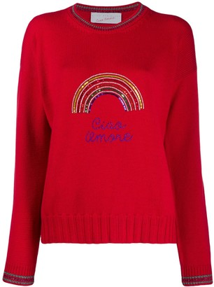 Giada Benincasa Rainbow Embellished Sweater