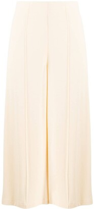 Françoise High-Rise Cropped Wide-Leg Trousers