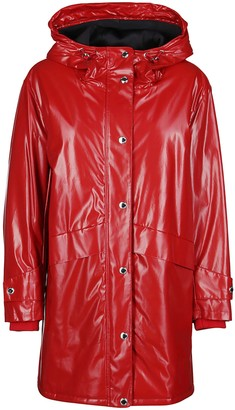 Burberry Red Parka Coat