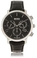 HUGO BOSS 1513263 Chronograph Italian Leather Swiss Quartz Watch One Size Assorted-Pre-Pack