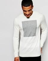 Asos Merino Wool Mix Sweater with Square Design