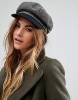 Brixton Baker Boy Hat in Herringbone