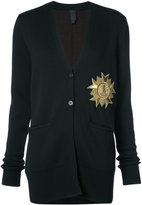 Vera Wang metallic patch V-neck cardigan