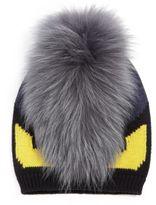 Fendi Monster Fur-Trimmed Wool Hat
