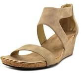 Adrienne Vittadini Thalia-2 Women Open Toe Synthetic Brown Wedge Sandal.