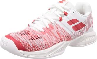 Babolat Women's Propulse Blast Teppichschuh Damen-Wei Rot Tennis Shoes White Red 908 5 UK