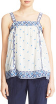 Joie Magali Square Embroidered Tank
