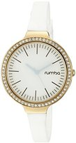 RumbaTime Women's 22674 Orchard Crystal Gold Snow Patrol Analog Display Japanese Quartz White Watch