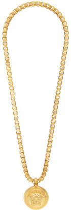 Versace Gold Chain Medusa Necklace