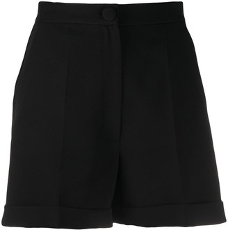 Loulou Tailored Front-Pleat Shorts