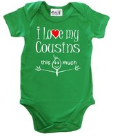 Dirty Fingers, I Love my Cousins this much, Novelty Baby Bodysuit, 12-18m