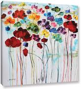 Latitude Run Rainbow Poppies Painting Print on Wrapped Canvas
