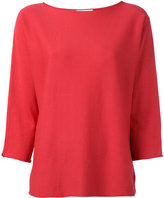 Fabiana Filippi rolled edge knitted top - women - Cotton - 42