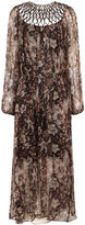 Zimmermann Brown Floral Silk Lattice Dress
