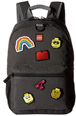 Lego Patch Backpack Pouch with Assorted Patches (Grey) Backpack Bags