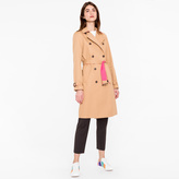 Paul Smith Women's Camel Cotton-Twill Trench Coat With Pink Contrasts