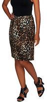 George Simonton Leopard Print Pencil Skirt