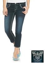 Hydraulic Juniors' Fleur-De-Lis Bling Pocket Cropped Jeans