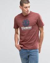 Element Verical Logo T-Shirt Oxblood Red Heather