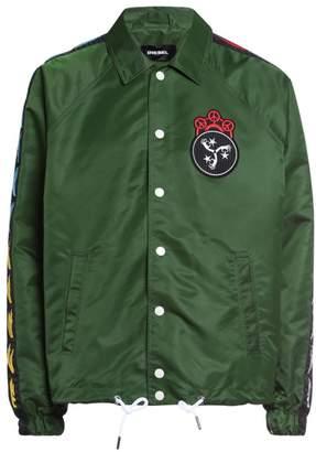 Diesel Akito Embroidered Nylon Coach Jacket