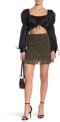 Abound Smocked Ruffle Hem Skirt