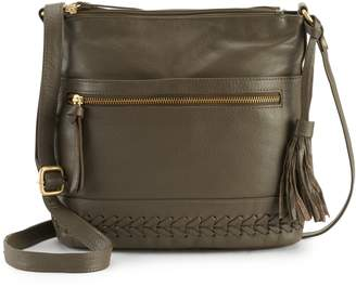 Paradox Leather North South Crossbody Bag