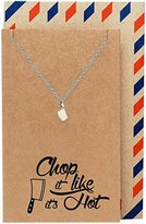 Quan Jewelry Gifts for Mom, Dad, Chef, Cook Knife Necklace Funny Birthday Cards, 16-inch to 18-inch