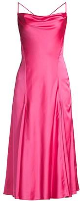 Fame & Partners The Valita Draped Midi Dress