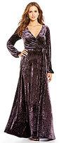 Gianni Bini Fan Fav Rotar Velvet Faux-Wrap Maxi Dress