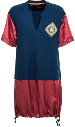 Mr & Mrs Italy Jersey And Satin Long T-shirt