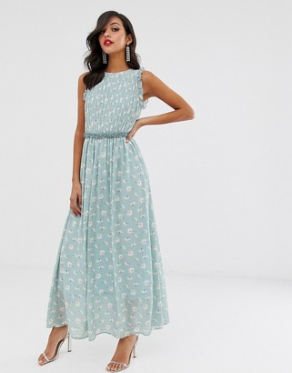 UNIQUE21 sleeveless maxi dress-Blue