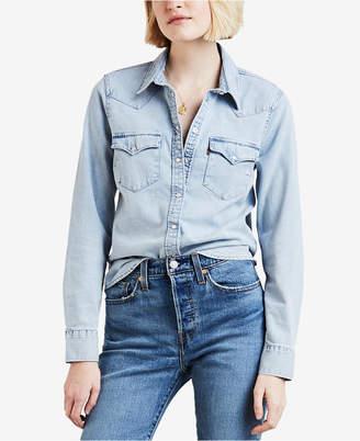 Levi's Women Cotton Ultimate Western Denim Shirt