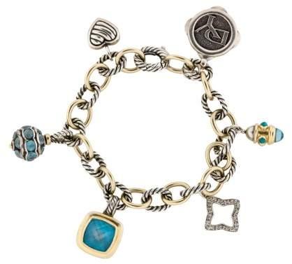 David Yurman Yellow Gold & Sterling Silver Topaz Bracelet