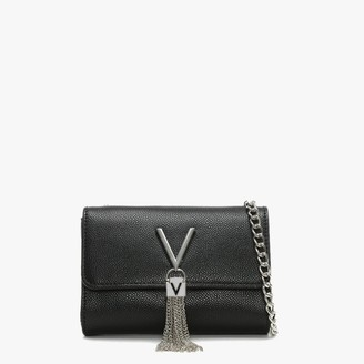 Valentino By Mario Valentino Divina Black Pebbled Shoulder Bag