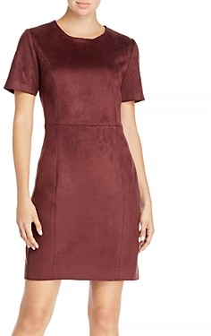 T Tahari Faux Suede Dress