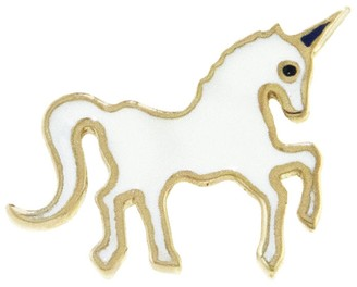 Sydney Evan Mini Unicorn Single Stud Earring - Yellow Gold
