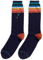 Paul Smith Feather embroidered stripe socks