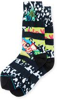 Stance I Dare You Printed Socks, Black/White