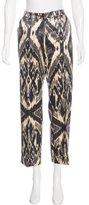 Dries Van Noten Mid-Rise Wool & Silk-Blend Pants