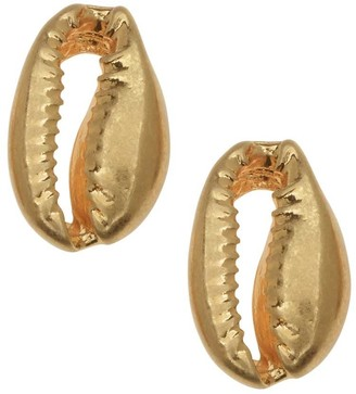Overstock Zola Elements Pendant, Cowrie Shell Focal 17x11mm, 4 Pieces, Satin Gold Tone