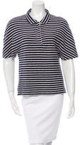 Balenciaga Striped Terry Cloth Top