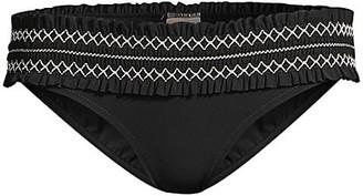 Tory Burch Costa Hipster Smocked Bikini Bottom