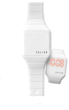 Dakota Kids' Fusion Comfort Silicon Watch with Tech Time- Lights Up at the Touch of a Botton