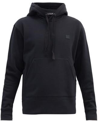 Acne Studios Ferris Face Cotton Hooded Sweatshirt - Mens - Black