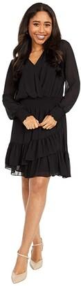 MICHAEL Michael Kors Solid Ruffle Dress (Black) Women's Dress
