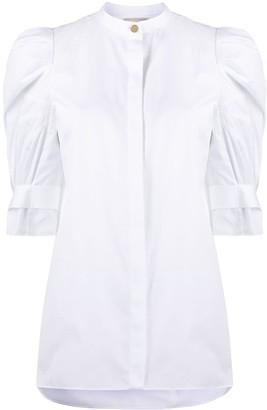 Alexander McQueen Puff-Shoulder Shirt