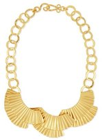 Stephanie Kantis Basin Crimped 24K Collar Necklace