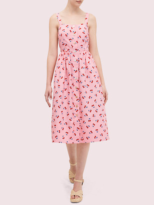 Kate Spade Cherry Toss Poplin Dress